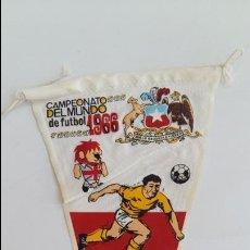 Banderines de colección: BANDERIN CAMPEONATO DEL MUNDO DE FUTBOL 1966 CHILE. Lote 125308803