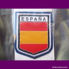 Banderines de colección: ESCUDOS BORDADOS TERMO ADHESIVOS ESCUDO ESPAÑA. Lote 126023099