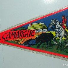 Banderines de colección: VIEJO BANDERIN DE CAMARGUE. Lote 126111307