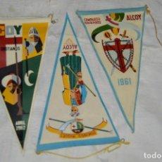 Banderines de colección: LOTE 3 BANDERINES FIESTAS ALCOY - AÑOS 60 - MUY BONITOS Y CURIOSOS - HAZ OFERTA - ENVÍO 24H. Lote 127459243