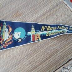 Banderines de colección: FALLAS VALENCIA BANDERIN BARCO FALLERO. Lote 128075479