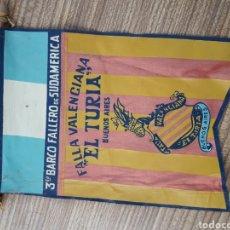 Banderines de colección: FALLAS VALENCIA BANDERIN BARCO FALLERO. Lote 128075840
