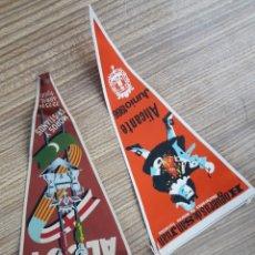 Banderines de colección: 2 BANDERINES ALCOY ALICANTE. Lote 128076496