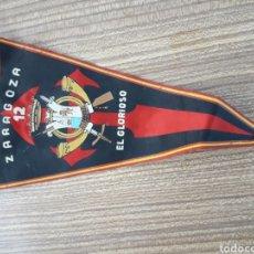 Banderines de colección: BANDERIN ZARAGOZA MILITAR 12. Lote 128076567
