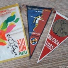 Banderines de colección: 3 BANDERINES VALENCIA. Lote 128077728