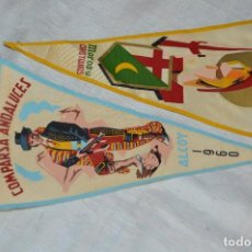 Banderines de colección: LOTE 2 BANDERINES FIESTAS ALCOY - AÑOS 60 - MUY BONITOS Y CURIOSOS - HAZ OFERTA - ENVÍO 24H. Lote 128099147