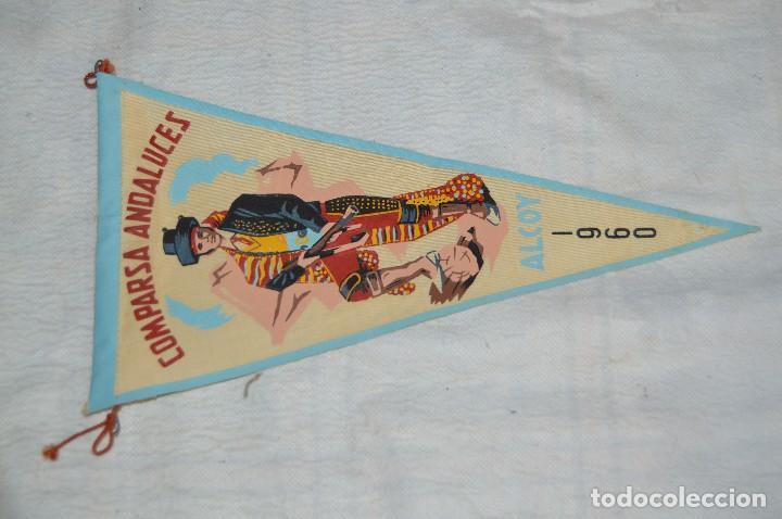 Banderines de colección: LOTE 2 BANDERINES FIESTAS ALCOY - AÑOS 60 - MUY BONITOS Y CURIOSOS - HAZ OFERTA - ENVÍO 24H - Foto 2 - 128099147