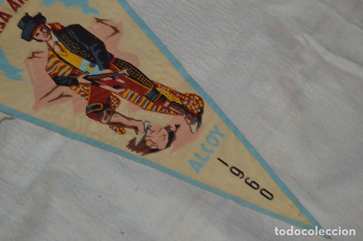 Banderines de colección: LOTE 2 BANDERINES FIESTAS ALCOY - AÑOS 60 - MUY BONITOS Y CURIOSOS - HAZ OFERTA - ENVÍO 24H - Foto 4 - 128099147