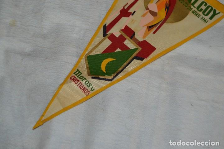 Banderines de colección: LOTE 2 BANDERINES FIESTAS ALCOY - AÑOS 60 - MUY BONITOS Y CURIOSOS - HAZ OFERTA - ENVÍO 24H - Foto 12 - 128099147