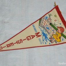 Banderines de colección: ANTIGUO BANDERIN - SANTANDER 1960, 61 - MAGISTERIO - HAZ OFERTA - ENVÍO 24H. Lote 128099979