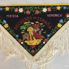 Banderines de colección: BANDERIN - MEDIA VERONICA (RECUERDO DE ESPAÑA). Lote 128626411