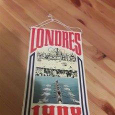 Banderines de colección: BANDERIN LONDRES BIMBO 1908. Lote 128678488