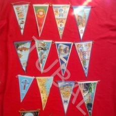 Banderines de colección: TUBAL BANDERIN LOTE DE14 BANDERINES. Lote 128980495
