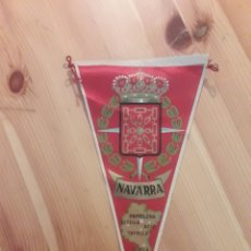 Banderines de colección: BANDERIN NAVARRA PAMPLONA ESTELLA AOIZ TAFALLA TUDELA. Lote 129309254