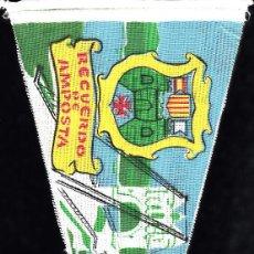 Banderines de colección: BANDERIN ABRIL 1963 - RECUERDO DE AMPOSTA . Lote 131496950