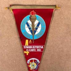 Banderines de colección: BANDERIN SEMANA DEPORTIVA ALICANTE 4º. Lote 133649306
