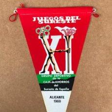 Banderines de colección: BANDERÍN JUEGOS DEL SURESTE XI 1969. Lote 133650446
