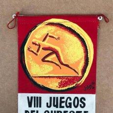 Banderines de colección: BANDERÍN JUEGOS DEL SURESTE VIII 1966. Lote 133650514
