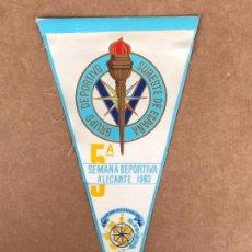 Banderines de colección: BANDERÍN SEMANA DEPORTE 1963 ALICANTE 5 EDICION. Lote 133650610