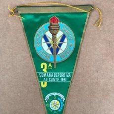 Banderines de colección: BANDERÍN SEMANA DEPORTE 1961 ALICANTE 3 EDICION. Lote 133650674
