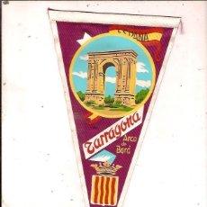 Banderines de colección: ANTIGUO BANDERIN TARRAGONA ARCO DE BARA. Lote 134449526