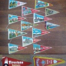 Banderines de colección: LOTE 15 BANDERINES AÑOS 60. Lote 134865242