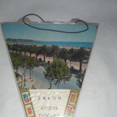 Banderines de colección: BANDERIN SALOU - COSTA DORADA AÑOS 60. Lote 134946418