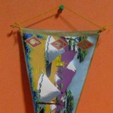 Fanions de collection: BANDERIN CAMPAMENTO LOS CASTILLEJOS AÑO 1963 17 X 36.5 CMS APROX.. Lote 134988102