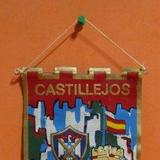 Fanions de collection: BANDERIN CASTILLEJOS 3ª ZONA DE LA I. P. S. DOBLE CARA (VER) 15 X 22.5 CMS APROX.. Lote 134990718