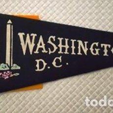 Banderines de colección: BANDERIN DE WASHINGTON D. C. DE MEDIDAS 29 CTMS DE LARGO -. Lote 137763650