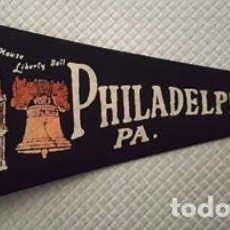 Banderines de colección: BANDERIN DE PHLADELPHIA PA . DE MEDIDAS 29 CTMS DE LARGO -. Lote 137763998