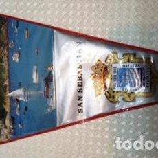 Banderines de colección: BANDERIN DE SAN SEBASTIAN DE MEDIDAS 28 CTMS DE LARGO . Lote 137764930