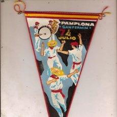Banderines de colección: ANTIGUO BANDERIN PAMPLONA SAN FERMIN 7 DE JULIO. Lote 138817494