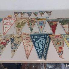 Banderines de colección: 20 BANDERINES DE LOS AÑOS 50. Lote 139961858