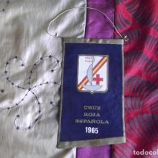 Banderines de colección: BANDERINES-ESPAÑA-PUBLICIDAD Y TEMATICA-CRUZ ROJA ESPAÑOLA-1965-20X12CM. Lote 140532454