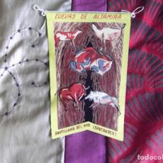 Banderines de colección: BANDERINES-ESPAÑA-PUBLICIDAD Y TEMATICA-SANTANDER-SANTILLANA DEL MAR-CUEVAS DE ALTAMIRA-20X13CM. Lote 140532818