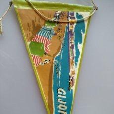 Banderines de colección: BANDERÍN DE GIJON. AÑOS 40. Lote 142030133