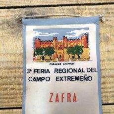 Banderines de colección: BANDERÍN III FERIA REGIONAL DEL CAMPO EXTREMEÑO- ZAFRA 1968,16 CMS. Lote 144221350
