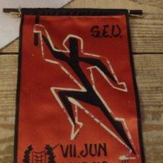 Banderines de colección: MURCIA AÑOS 60, BANDERIN VII JUN , S.E.U.. Lote 144328990