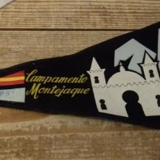 Banderines de colección: BANDERIN IPS CAMPAMENTO MONTEJAQUE 1965. Lote 144372258