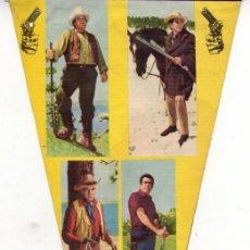 Banderines de colección: LA FAMILIA CARTWRIGHT *** BONANZA *** SERIE FIGURAS POPULARES NÚMERO 7 AÑO 1964. Lote 144650362