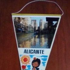 Banderines de colección: BANDERIN AÑOS 60 ALICANTE DOBLE. Lote 146754570