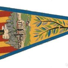 Banderines de colección: ANTIGUO BANDERÍN.- MONTSERRAT. MONASTERIO- BARCELONA (EN TELA). Lote 147509070