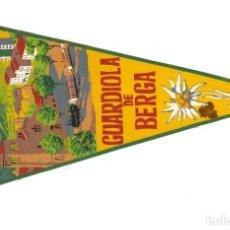 Banderines de colección: BANDERÍN.- GUARDIOLA DE BERGA. BARCELONA (EN TELA). Lote 147512114