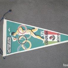 Banderines de colección: BANDERIN OLIMPIADA DE MEJICO. Lote 147941174