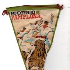 Banderines de colección: BANDERIN RECUERDO DE PAMPLONA. NAVARRA. AÑOS 60. Lote 148148420