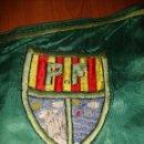 Banderines de colección: INTERESANTE BANDERIN GRANDES DIMENSIONES BORDADO A DOS CARAS ESCUDO Y FECHA A LOCALIZAR. Lote 148514510