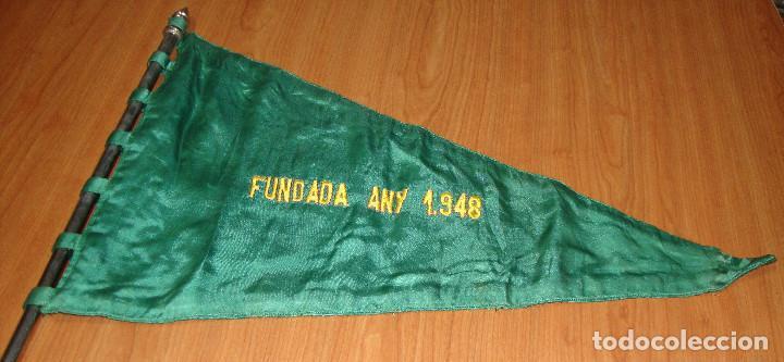 Banderines de colección: INTERESANTE BANDERIN GRANDES DIMENSIONES BORDADO A DOS CARAS ESCUDO Y FECHA A LOCALIZAR - Foto 6 - 148514510