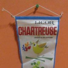 Banderines de colección: LICOR CHARTREUSE SINTONIA DE PLANTAS 22,5 X 11 / 14,5 CMS APROX.. Lote 148848918