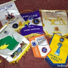 Banderines de colección: LOTE 6 UNIDADES BANDERIN CLUB DE LEONES VIÑA DEL MAR CHILE - LIONS CLUB- REF-1AC. Lote 150974026